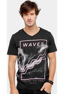 Camiseta Colcci Waves Neon Masculina - Masculino