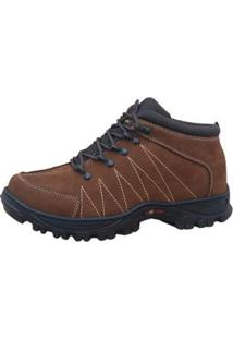 Bota Free Jump Adventure Ground Masculina - Masculino-Marrom