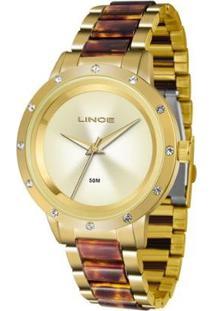 Relógio Feminino Lince Analógico Lrt4476L/C1Nk - Unissex-Dourado