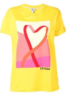 Escada Sport Camiseta Estampada Com Decote Arredondado - Amarelo