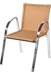Cadeira De Alumínio C319 Acra Bege - Alegro Móveis