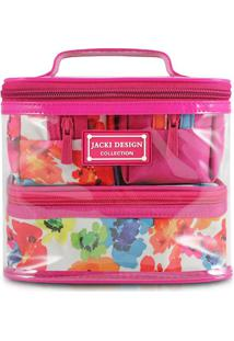 Kit De Nécessaires- Pink & Branca- 4Pçs- Jacki Djacki Design