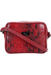 Bolsa Transversal Santa Lolla Snake Feminina - Feminino-Vermelho