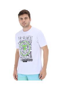 Camiseta Fatal Estampada 20342 - Masculina - Branco