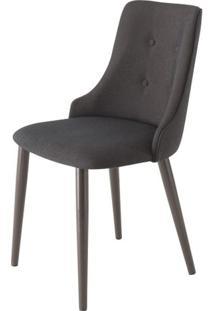 Cadeira Francis Assento Rustico Preto Com Base Tabaco - 46693 Sun House