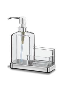 Organizador De Pia - Elegance 19,5 X 16 X 7,5 Cm Cristal Brinox