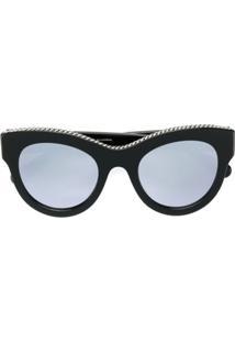 Stella Mccartney Eyewear Óculos De Sol Gatinho - Preto