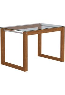 Conjunto De Mesa Para Sala De Jantar 4C Ret Anita Com 4 Cadeiras Laura-Cimol - Savana / Aspen