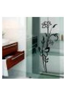 Adesivo Para Box De Banheiro Floral Modelo 7 - Medio