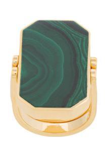 Julia Davidian Anel 'Ural Malachite' De Ouro - Verde