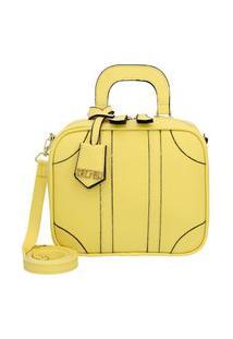 Bolsa Pequena Transversal Quadrada Selten Amarelo