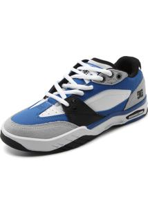 Tênis Couro Dc Shoes Maswell Azul