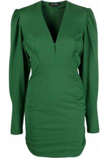 Isabel Marant Vestido Stella Com Mangas Bufantes - Verde