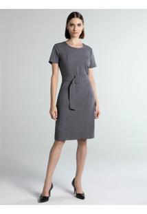 Vestido De Alfaiataria Cinza