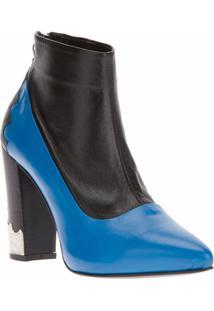 Toga Ankle Boot Azul E Preta