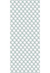 Painel Fotográfico Autocolante Para Porta Com Laminação - Capitonê Branco (0,92M(L) X 2,15M(A))