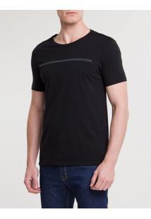 Camiseta Ckj Mc Est Palito - Preto - Pp