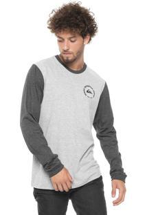 Camiseta Quiksilver Stamp Cinza/Grafite