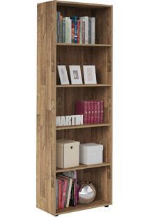 Estante Multy Para Livros E Objetos Rústico Com 4 Prateleiras E 1 Nicho - Artely