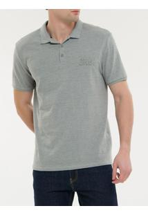 Polo Ckj Mc Ckj Embossed - Cinza Claro - Pp