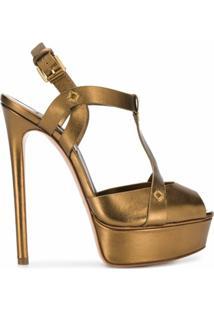 Casadei Sandália Dourada - Dourado
