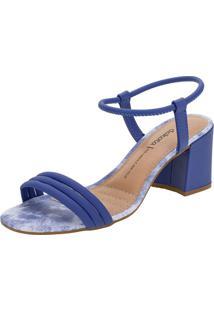 Sandália Feminina Salto Médio Dakota - Z6222 Azul 34