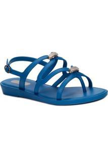 Sandália Feminina Grendha - Feminino-Azul