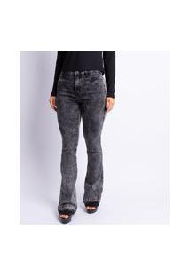 Calça Jeans Flare Feminina Lavagem Black Jeans