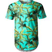 Camiseta Longline Over Fame Palmeiras Verde a736d3871483c