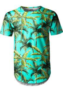Camiseta Longline Over Fame Palmeiras Verde