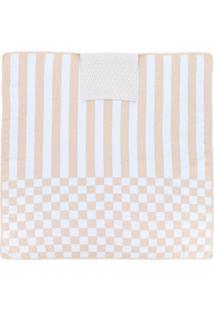 Fendi Kids Cobertor Com Mix De Estampas - Neutro