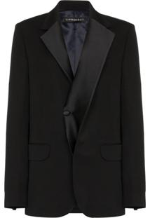 Y/Project Asymmetric Single-Breasted Tuxedo Jacket - Preto