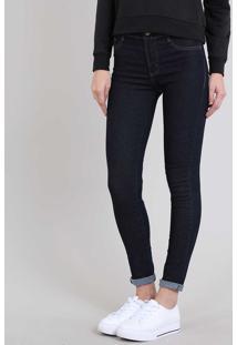 Calça Jeans Feminina Hot Pant Sawary Skinny Azul Escuro
