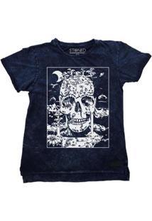 Camiseta Longline Stoned Estonada Skull Masculina - Masculino
