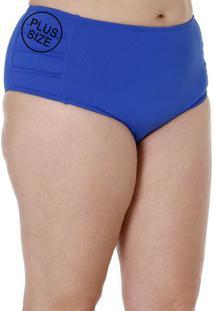 Calcinha Sunkine Plus Size Feminino Azul