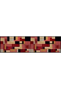 Tapete Retangular Veludo Marbella Illusione Artistic Preto 60X230 Cm