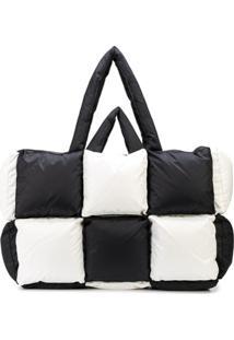 Off-White Bolsa Tiracolo Oversized Xadrez - Preto