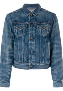 Polo Ralph Lauren Jaqueta Jeans Cropped - Azul