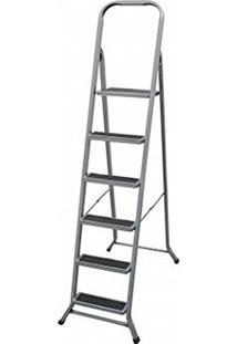 Escada Artmix Em Aço Cor Alumínio 6 Degraus