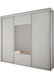 Guarda Roupa Arezzo Gold 3 Portas Com Espelho Branco