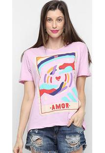 Camiseta Cantão Classic Amor Feminina - Feminino-Lilás