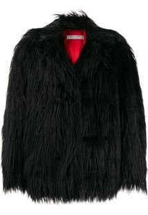 Philosophy Di Lorenzo Serafini Oversized Faux-Fur Jacket - Preto