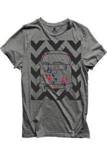 Camiseta Masculina Joss Van Florida Cinza Medio