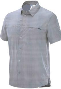 Camisa Capri Ss Cinza Masculina M - Salomon