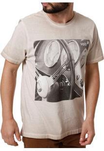 Camiseta Manga Curta Masculina Vels Marrom