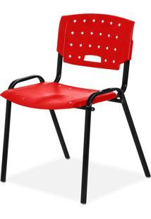 Cadeira Plastica Fit Vermelho Giobel - Vermelho - Dafiti
