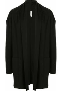 Attachment Cardigan Com Gola Xale - Preto