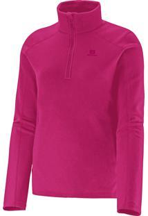 Blusa Feminina Salomon Polar 1/2 Zip Ii Pink P