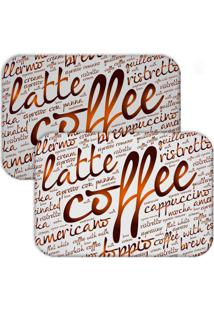 Jogo Americano Love Decor Wevans Latte Coffee Branco/Marrom - Multicolorido - Dafiti