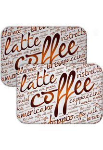 Jogo Americano Love Decor Wevans Latte Coffee Branco/Marrom